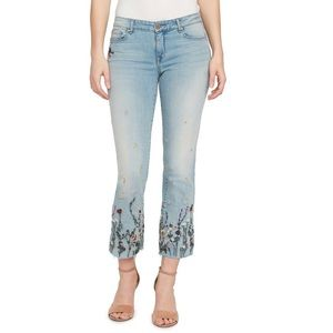 William Rast Embroidered Jeans